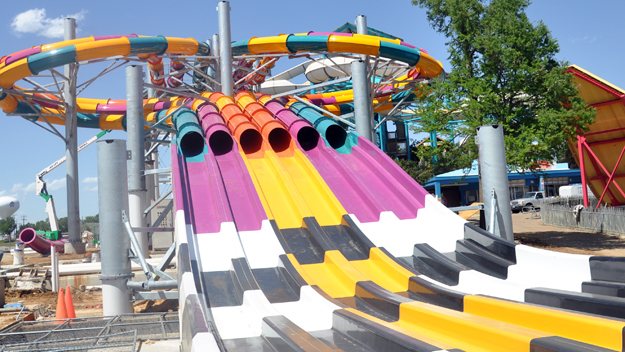 white water slides