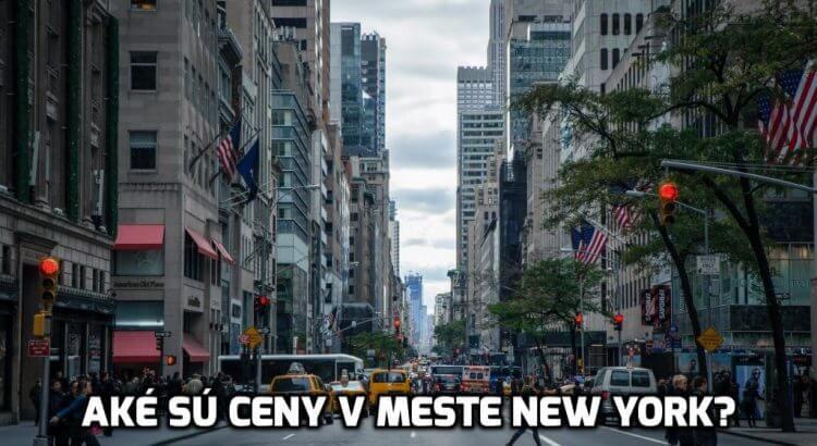 ceny v new yorku